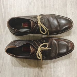 Cole Haan Mens Brown Leather Derby Shoes